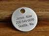 Personalized custom luggage tag with contact information
