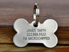 Deep Engraved Stainless Steel Dog Name Tag - Made in USA