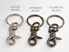 Couples Leather Keychain Set with Graphic