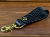 Promotional belt leather key fob for business events or client gifts