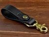 Embossed Leather Fold Over Belt Key Fob to keep your keys within arms reach at all times
