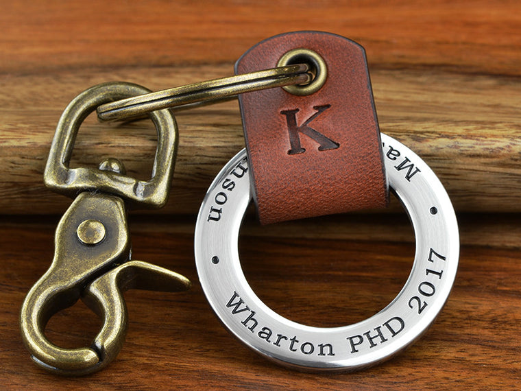 College Graduation Keychain with your school engraved