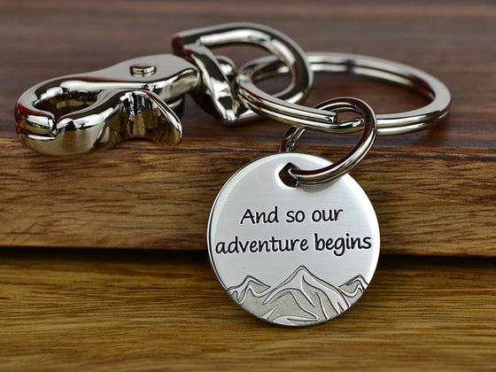 Our Adventure Mountain Keychain
