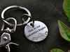 Adventure keychain And so our adventure begins anniversary keychain