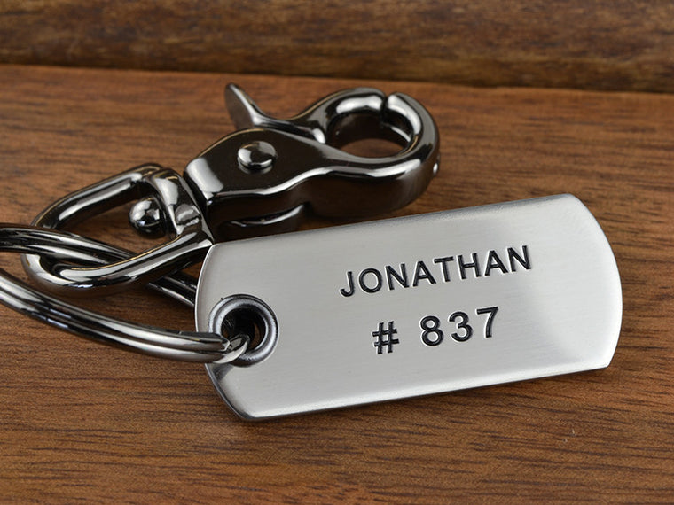 Personalized Rectangle Key Chain