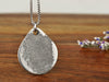 Thumbprint fingerprint pendant necklace engraved memorial gift for a family member