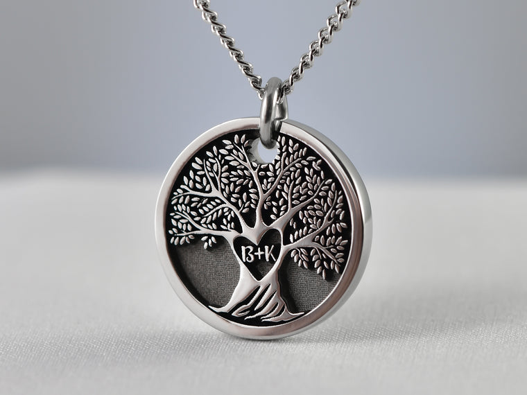 Personalized Heart Tree of Life Pendant