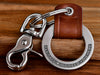 Aviation Gift for Pilot, Custom leather keychain engraved with words Fly Safe