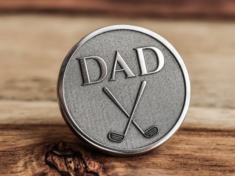 Unique Custom Made Golf Marker with Engraved Initials
