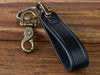 Custom Embossed Leather Shackle Keychain