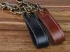 Personalized Leather Shackle Keychain Set
