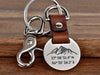 Mountain Coordinates Leather Foldover Keychain