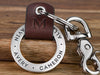 Personalized Leather Keychain Ring
