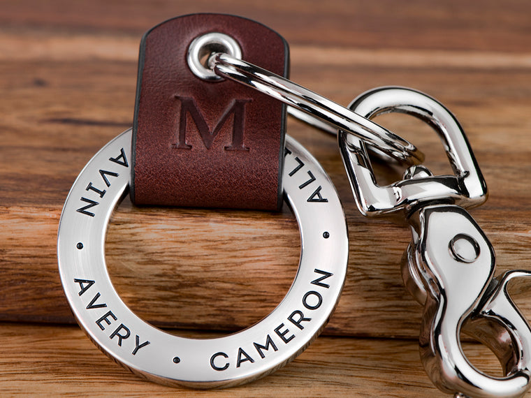 Fathers Day Keychain for Dad, Custom Engraved with a personal message