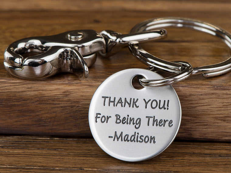 Small Engraved Message Keychain