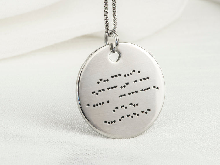 Morse Code Necklace - Round