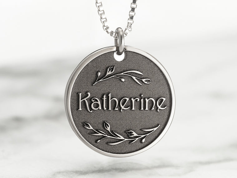 Custom Engraved Name Necklace