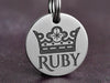 Crown Dog ID Tag, Stainless Steel