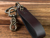Personalized Leather Initial Shackle Keychain