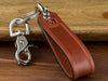 Personalized Recessed Leather Shackle Keychain