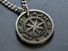 Mens Custom Compass Rose Necklace - Pendant Only