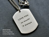 Mens Custom Dog Tag Necklace