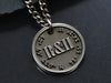 Mens Custom Coordinates Necklace