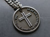 Mens custom engraved cross necklace with raised engraving, great gift for Confirmation Gift for Boy