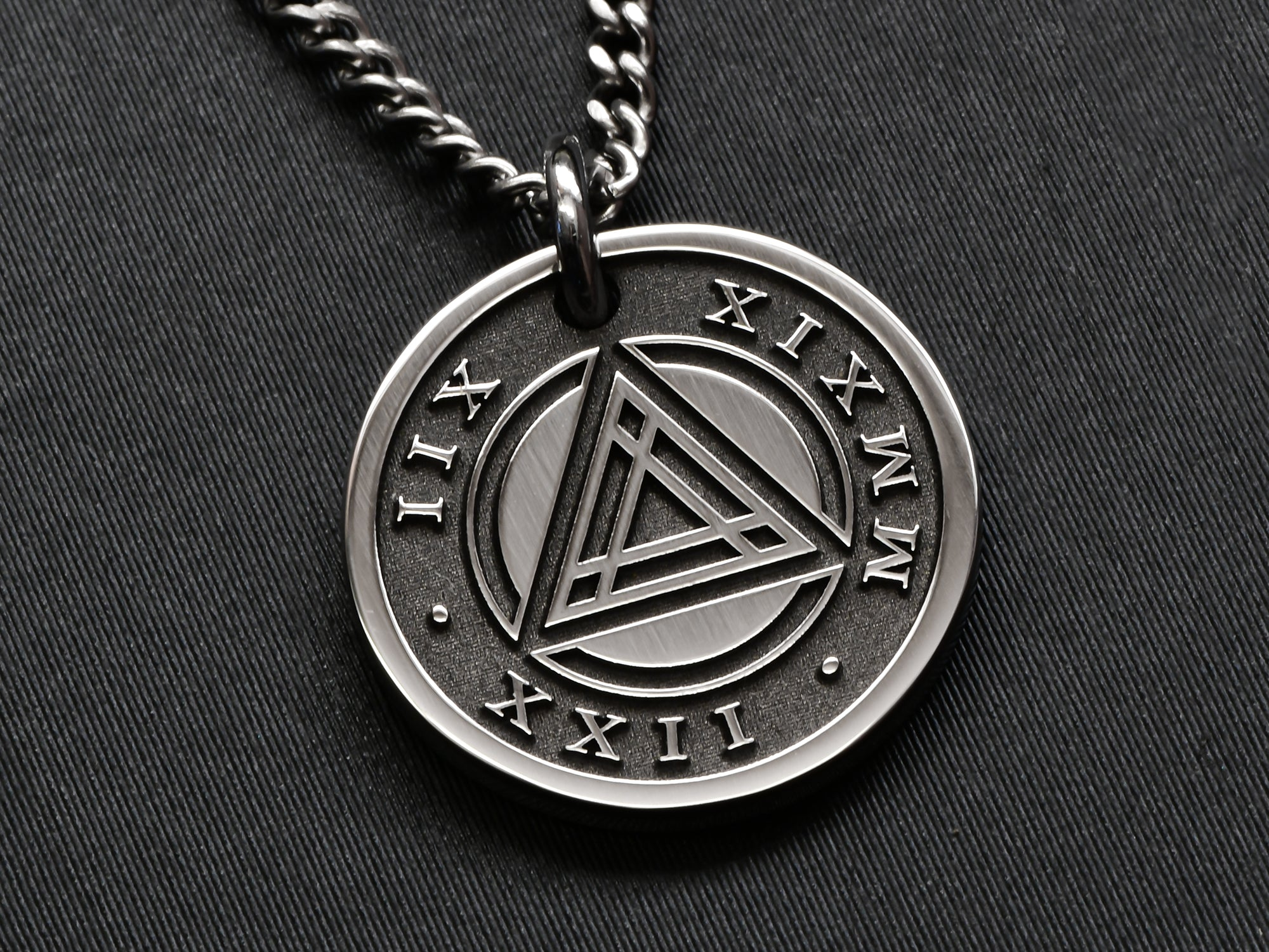 Mens Custom Sobriety Necklace | Sobriety Gifts | Maven Metals