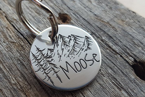 Artisan Mountain Dog ID Tag - Cool dog tag for adventure dogs