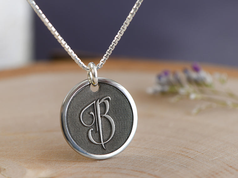 Elegant monogram initial necklace for women