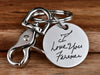 Real Handwriting Keychain Round - Stainless Steel