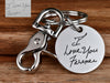 Deep Engraved Real Handwriting Keychain Stainless Steel for Loss Gift