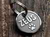 Custom Made Reverse Dog ID Tag, Stainless Steel