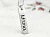 Engraved Vertical Bar Necklace - Bulk