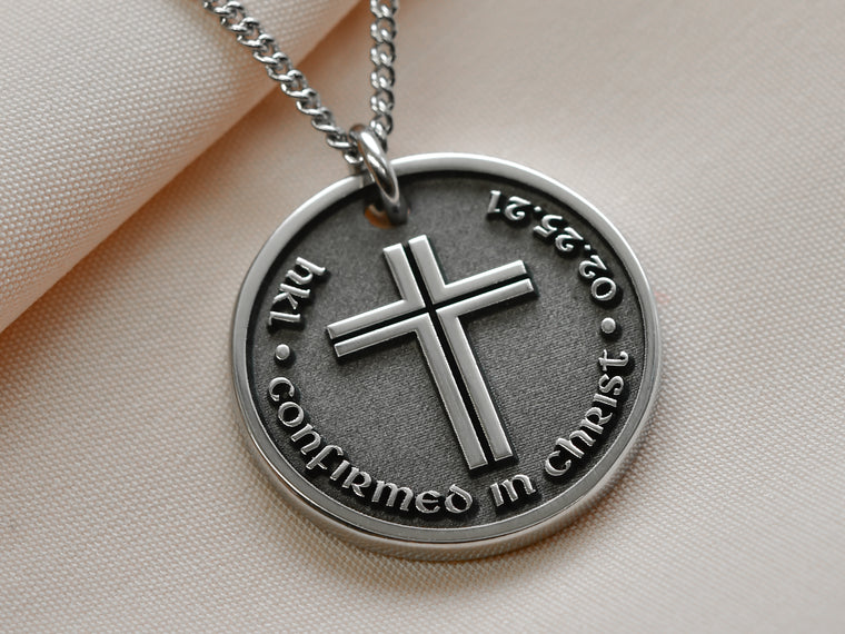 Girls Confirmation Gift Engraved Necklace with Cross