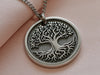 Womens Tree of Life Necklace with Raised 3D Engraving, add custom message on back