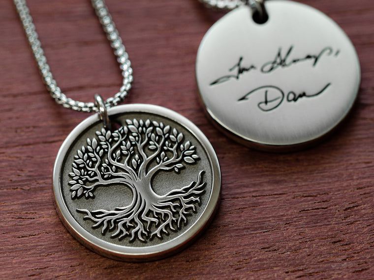 Womens Real Handwriting Pendant - Tree of Life