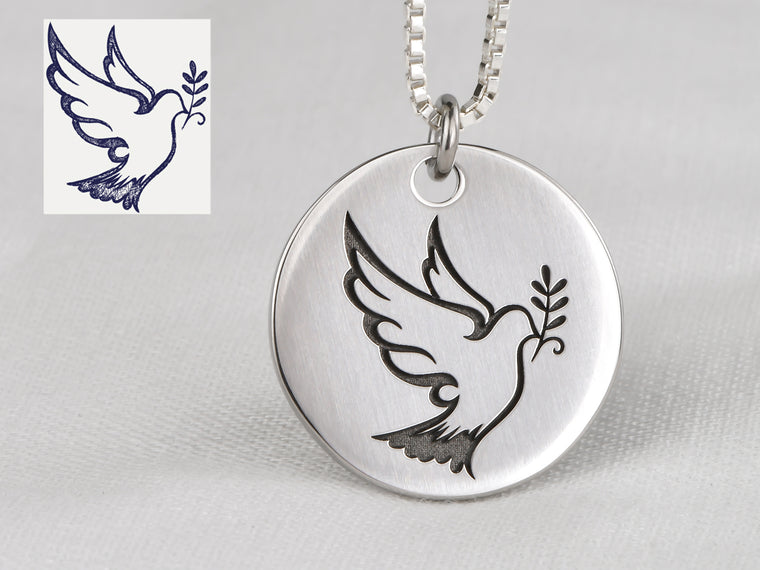 Your Own Custom Artwork Necklace - Deep Engraved