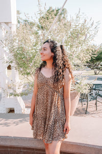 Leopard Print Dress (reg & plus)