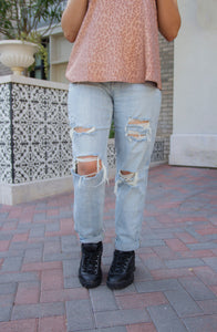 Lucy High Rise Boyfriend Jeans