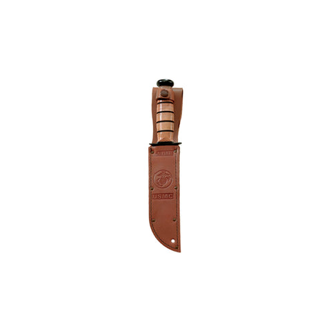 "Leather Sheath - Fits Knife with 7"" Blade, Brown"