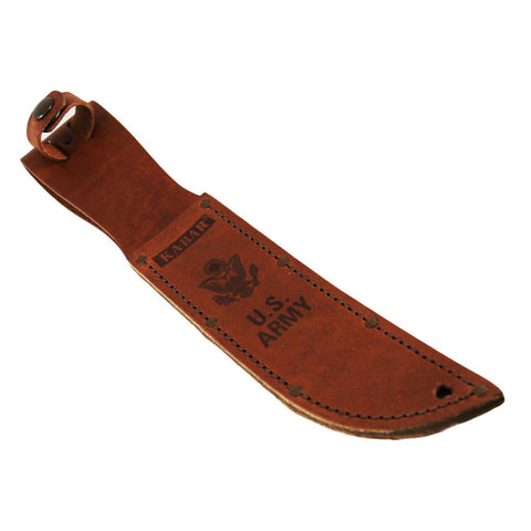 Leather Sheath - Army Logo, Brown