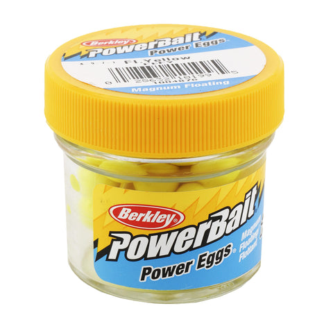 PowerBait Power Eggs Floating Magnum Soft Bait - Original Scent, Fluorescent Yellow