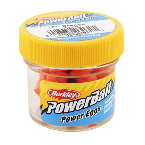 PowerBait Power Eggs Floating Magnum Soft Bait - Original Scent, Fluorescent Orange