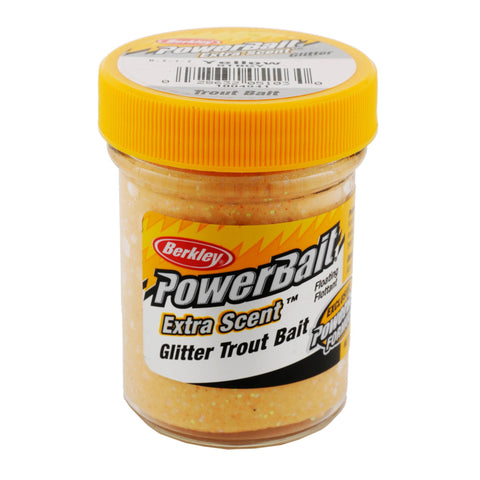 PowerBait Glitter Trout Dough Bait - Yellow