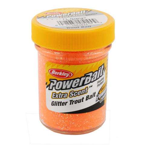 PowerBait Glitter Trout Dough Bait - Fluorescent Orange