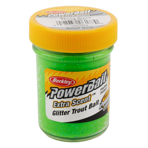 PowerBait Glitter Trout Dough Bait - Spring Green