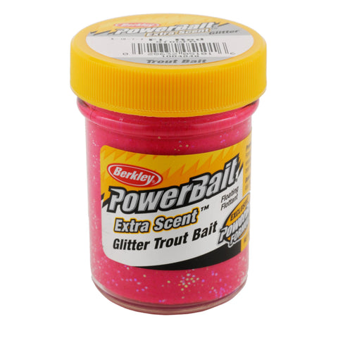 PowerBait Glitter Trout Dough Bait - Fluorescent Red