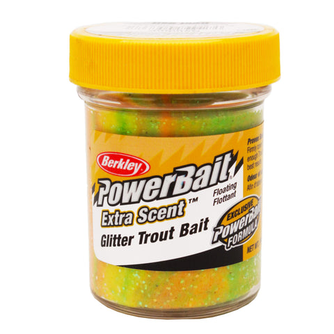 PowerBait Glitter Trout Dough Bait - Rainbow